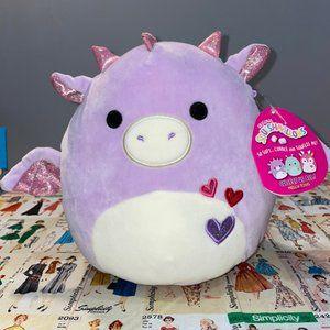 """*SOLD* Squishmallows 8"""" Dina The Purple Dragon"""